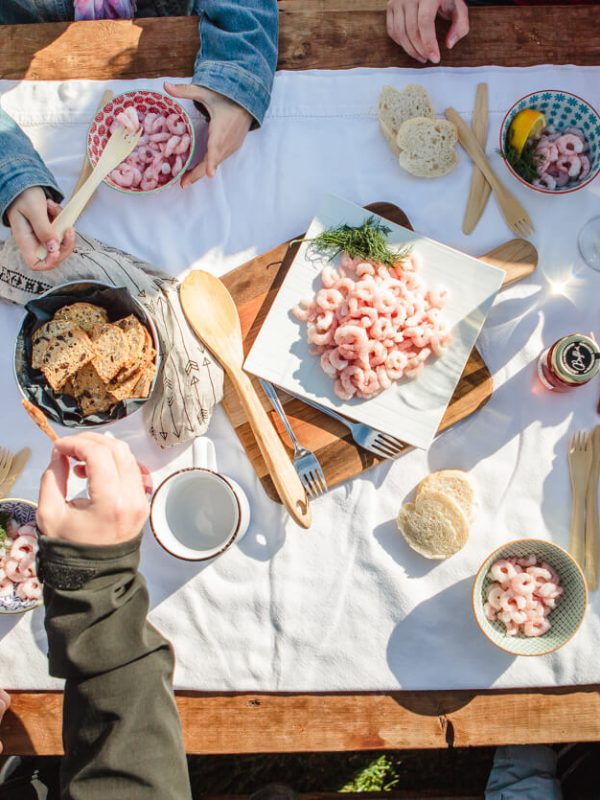 Crevettes nordiques au bord de la mer lifestyle photographe matane Rimouski Atelier Camion