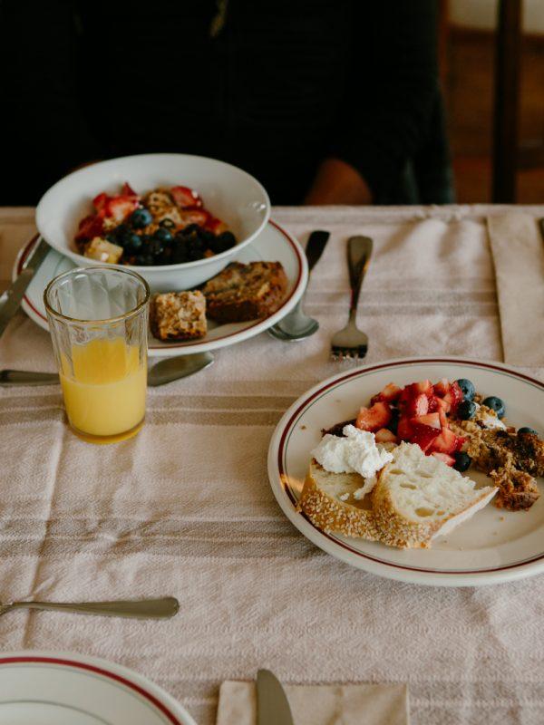 table de petit déjeuner atelier camion